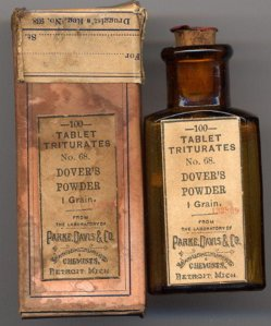 Dovers Powders, opium preparation used for 150 years